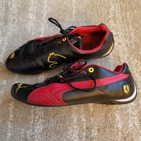 puma ferrari shoes black red